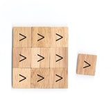 SM12 Strict Inequality (>) Sign Math Symbol 1 Piece Wooden Scrabble Tiles