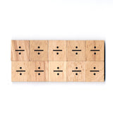 SM4 (÷) Divided Sign Math Symbol 1 Piece Wooden Scrabble Tiles