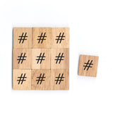 SM9 (#) Hashtag Sign Math Symbol 1 Piece Wooden Scrabble Tiles
