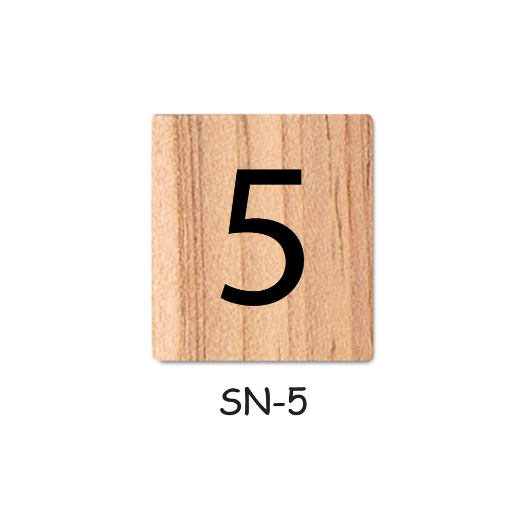 Number 5 Wooden Scrabble Tiles for DIY Crafts and Handicraft Items