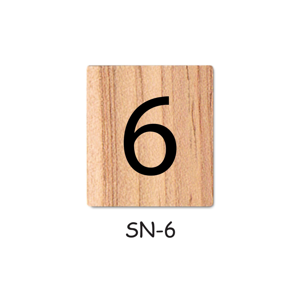 Number 6 Wooden Scrabble Tiles for DIY Crafts and Handicraft Items