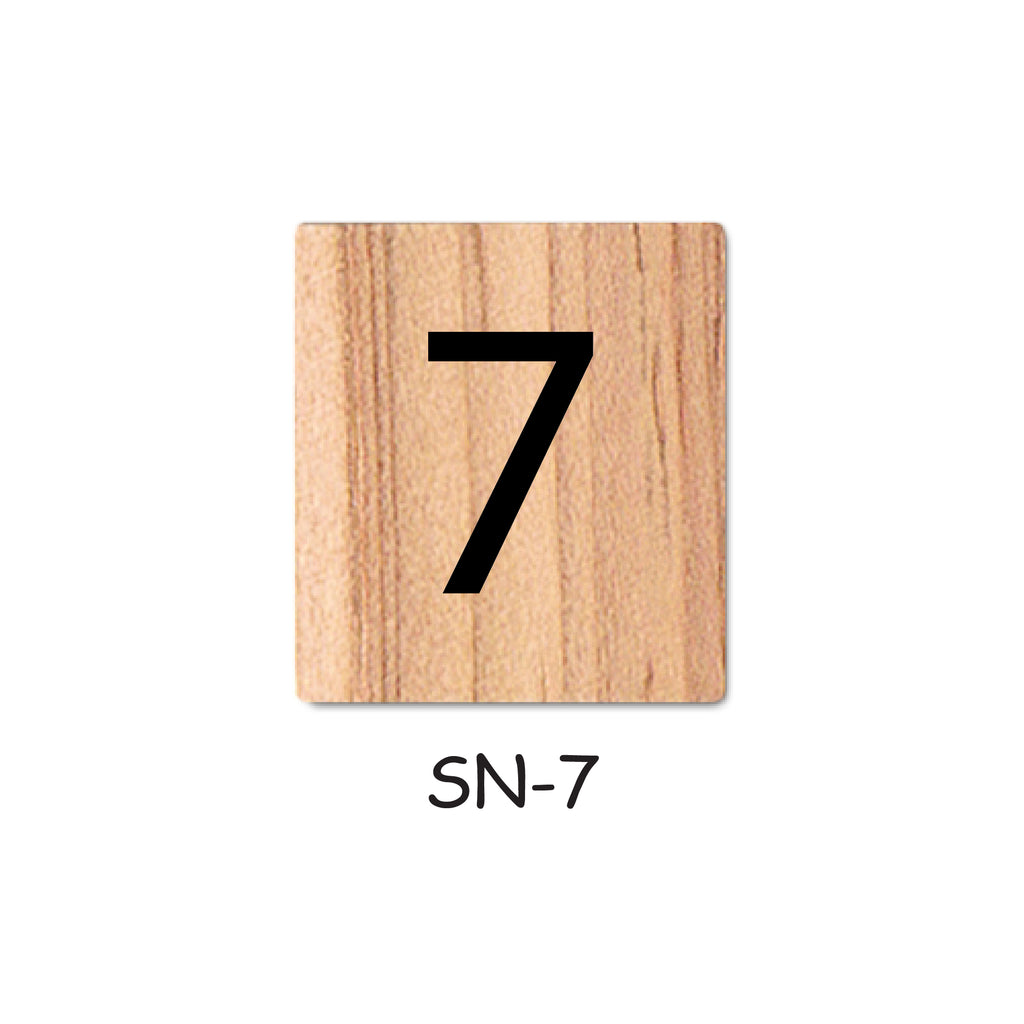 Number 7 Wooden Scrabble Tiles for DIY Crafts and Handicraft Items