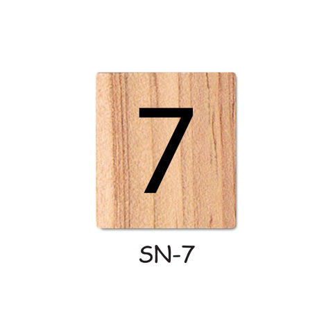 Number 7 Wooden Scrabble tiles