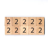 Number 2 Wooden Scrabble tiles