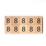 Number 8 Wooden Scrabble Tiles for DIY Crafts and Handicraft Items