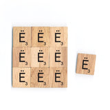 Letter Ë Wooden Scrabble Tiles for Crafts Designs and Mini Artworks