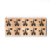 SY01 Temple Wooden Scrabble tiles