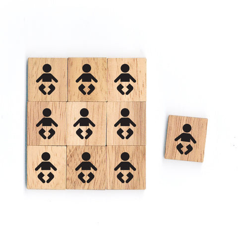 SY05 Baby Wooden Scrabble tiles
