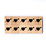 SY06 Arrow in Heart Wooden Scrabble tiles