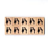 SY08 Get married Wooden Scrabble tiles