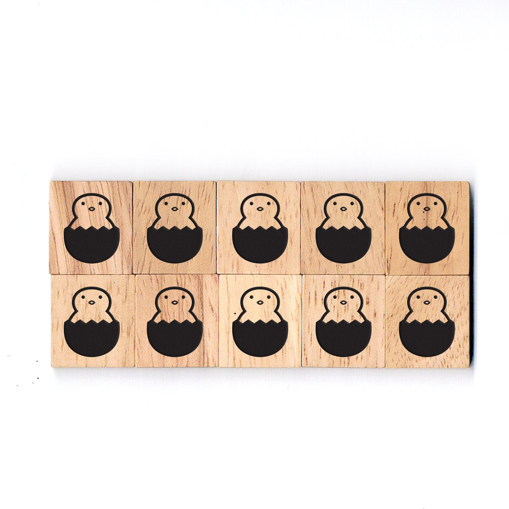SY11 Easter2 Wooden Scrabble tiles