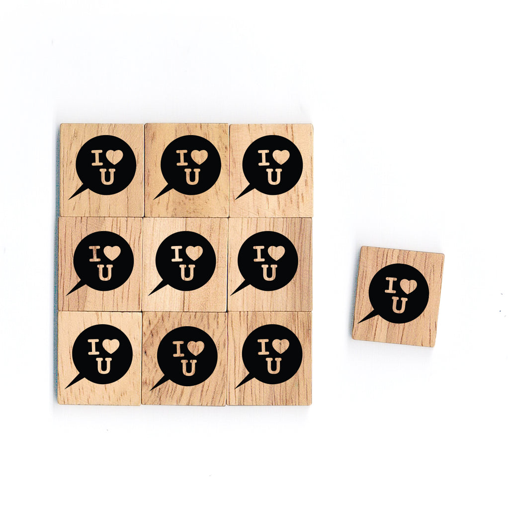 SY27 I Love You Wooden Scrabble tiles