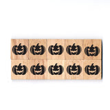 SY34 Pumpkin1 Wooden Scrabble tiles