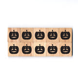 SY35 Pumpkin2 Wooden Scrabble tiles