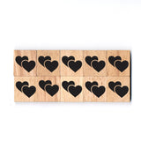 SY41 Two Heart Wooden Scrabble tiles