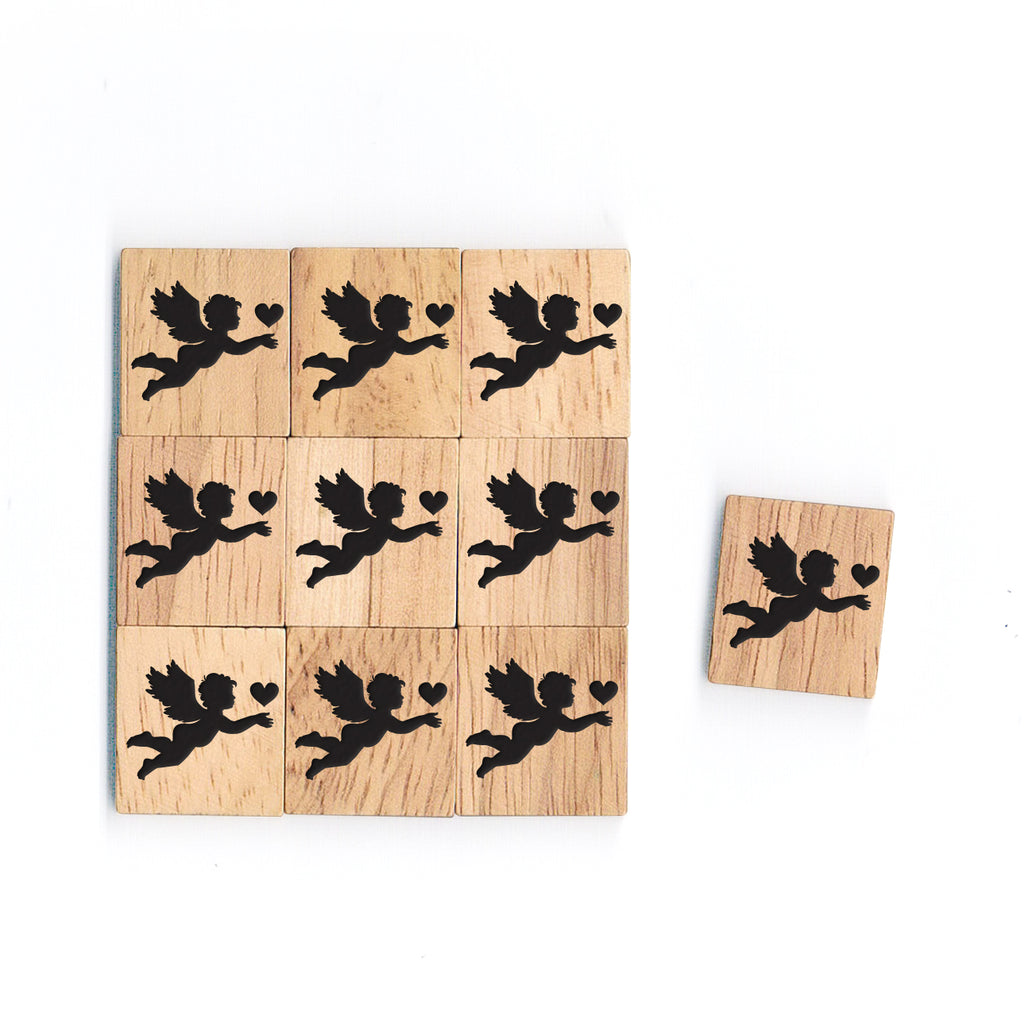 SY42 Cupid 3 Wooden Scrabble tiles