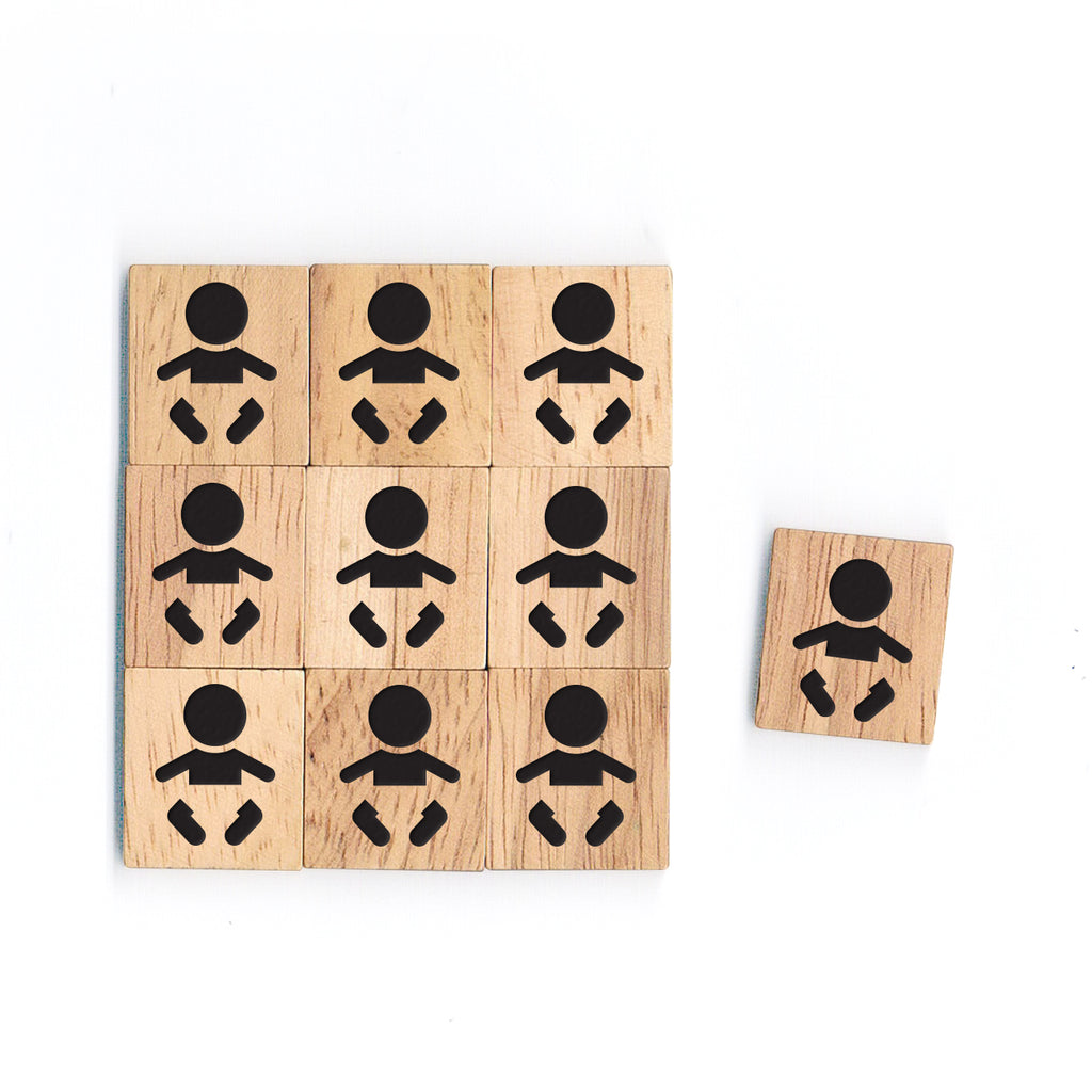 SY46 BABY 3 Wooden Scrabble tiles