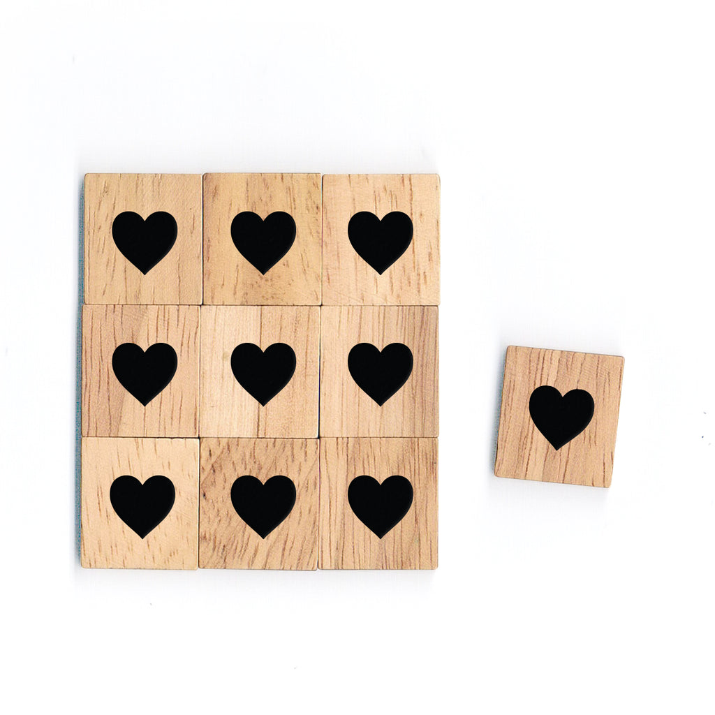 SY54 Only Heart Wooden Scrabble tiles