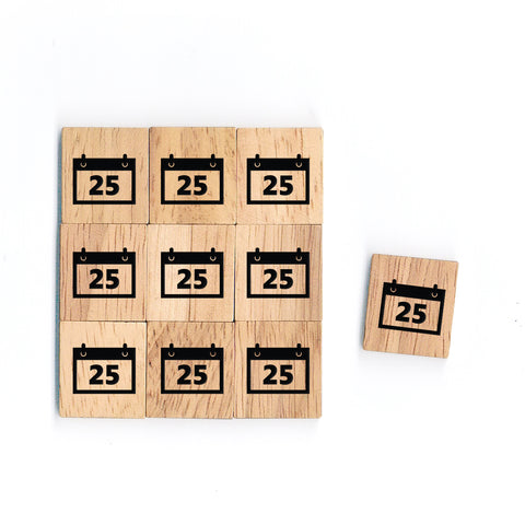 SY59 25 Dec Wooden Scrabble tiles