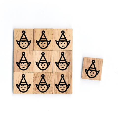 SY60 Angel Wooden Scrabble tiles