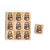 SY69 Snowman2 Wooden Scrabble tiles
