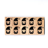 SY71 Santa Claus3 Wooden Scrabble tiles
