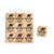 SY72 Snowman3 Wooden Scrabble tiles