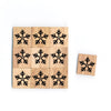 SY74 snow flake2 Wooden Scrabble tiles