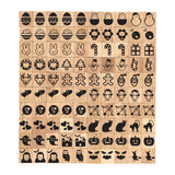 Seasonal Picture Symbol Wooden Letters Tiles Complete Set of 100 Pcs