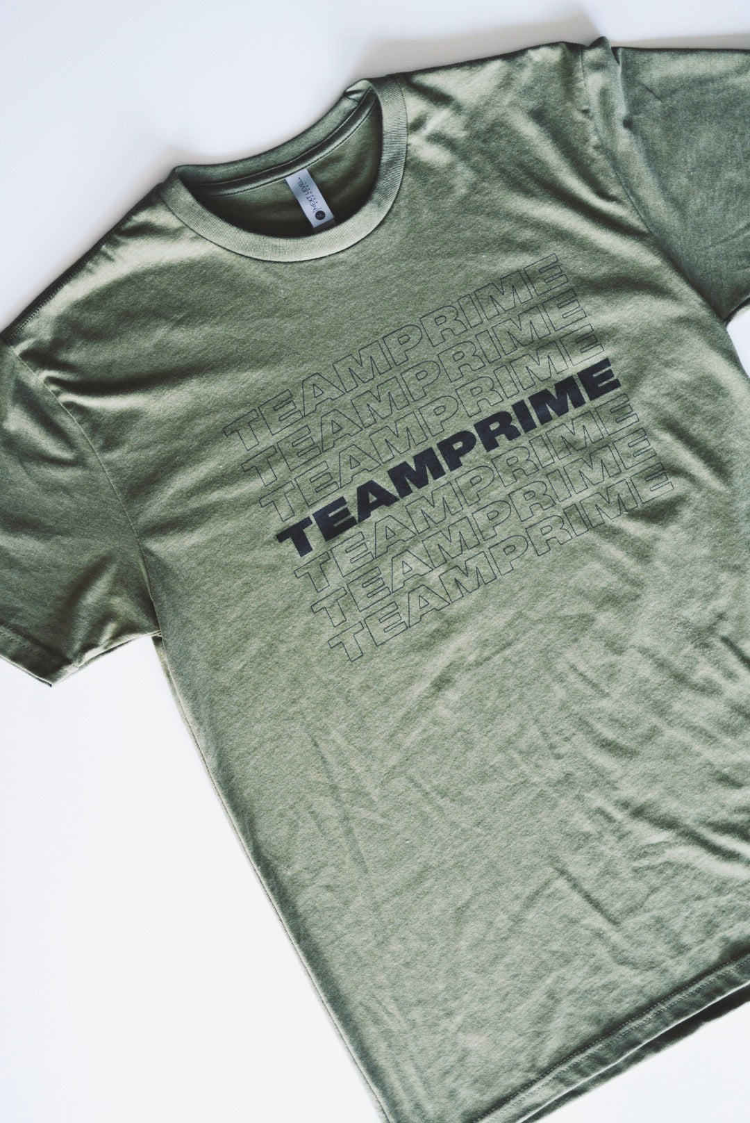 Thank-You Team Prime T-Shirts Military Green - Prime.Nutrition1