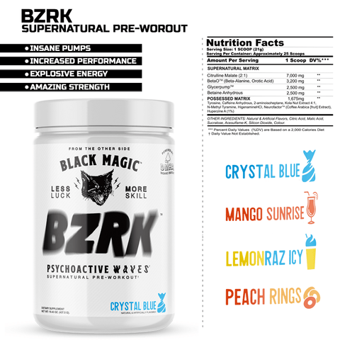 Black Magic BZRK Preworkout - Prime.Nutrition1