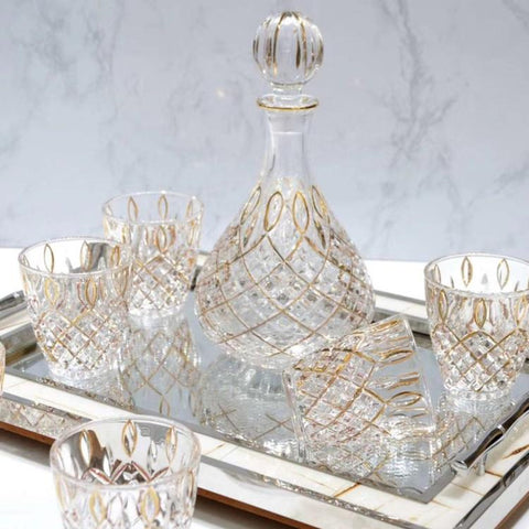 Decanter Set: Aaron Spirit Decanter & 6 Tumblers