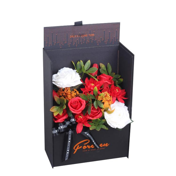 Fragrance Luxury Bordeaux Soap Flowers Red Gift Box - Adore Home Living Perth WA