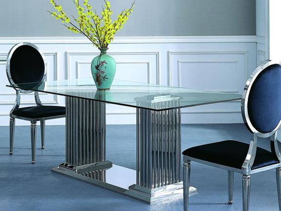 Cairo Glass Dining Table - Adore Home Living Perth WA