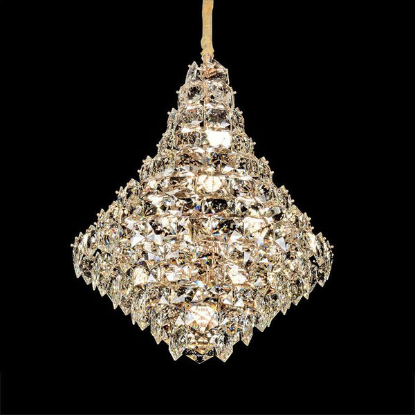 Crystal Pendant Light 65, Taylor Crystal Chandeliers - Chrome -