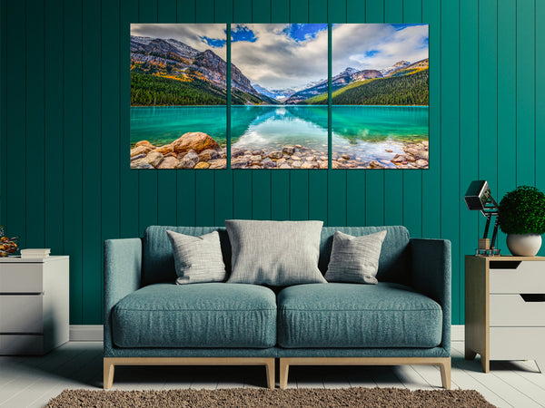 Acrylic Painting SET OF 3: Lake Louise Adore Home Living Perth Furniture Store