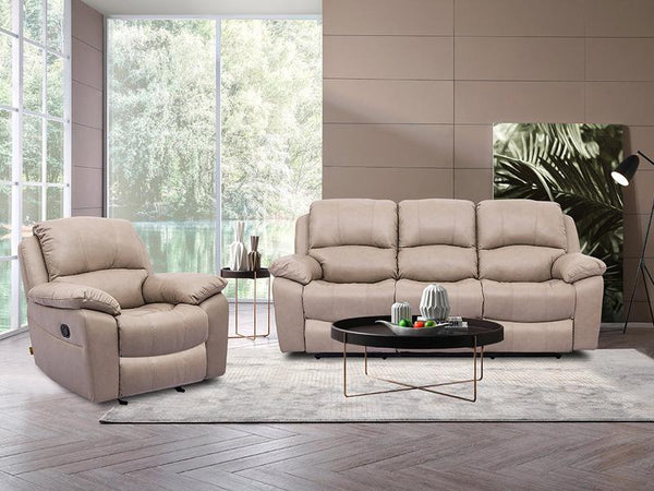 Grayson 3PC Leather Recliner Suite Leather Lounge Adore Home Living