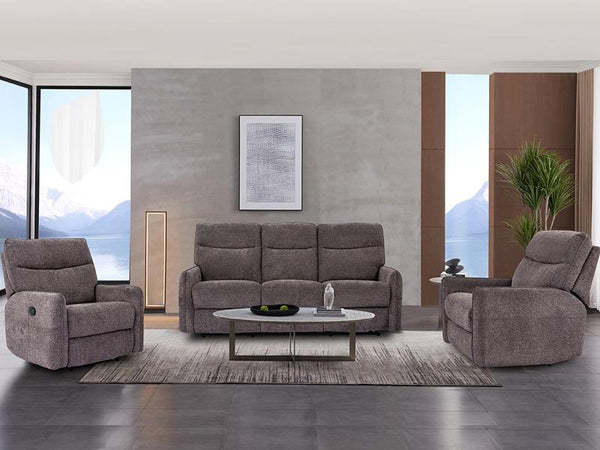 Brooklynn 3 Piece Leather Recliner Suite Leather Lounge Adore Home Living