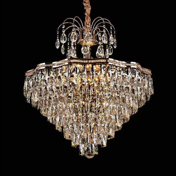 Crystal Pendant Light 60, Bella Crystal Chandeliers - Chrome -