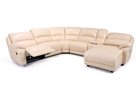 Evelina Full Leather Conner Modular - Adore Home Living Perth WA