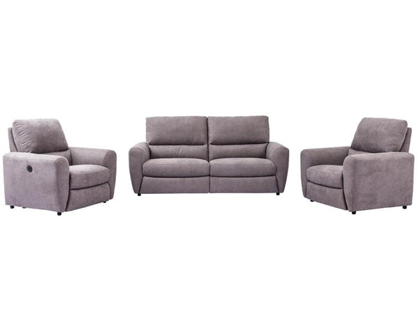 LAYLA 3PC Electric Fabric Recliner Suite eofy sale 50%off