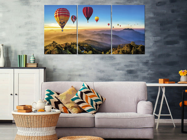 Acrylic Painting SET OF 3: Hot Air Balloon Adore Home Living Perth Furniture Store