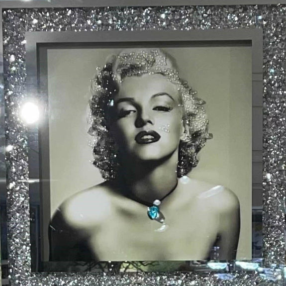 Mirrored Painting: Silver Marilyn Monroe