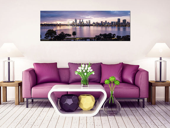 Acrylic Painting Perth City at Twilight Adore Home Living Perth Furniture Store Homewares & Decor