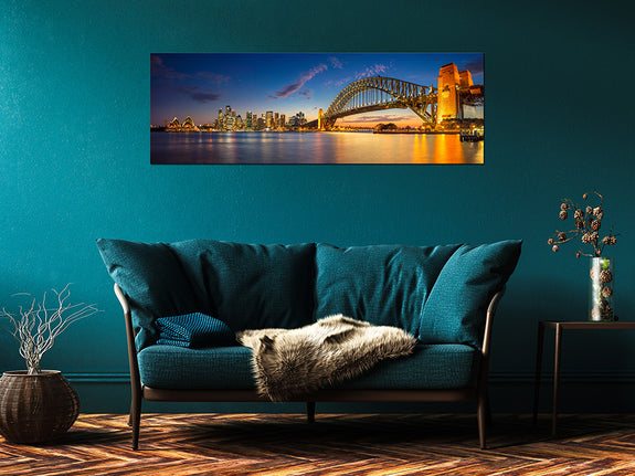 Acrylic Painting Sydney Harbour Bridge Adore Home Living Perth Furniture Store Homewares & Decor