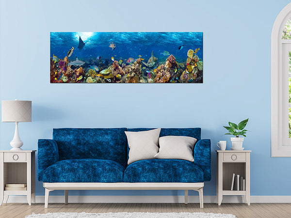Acrylic Painting: Underwater coral reef Perth Furniture Store Homewares & Decors