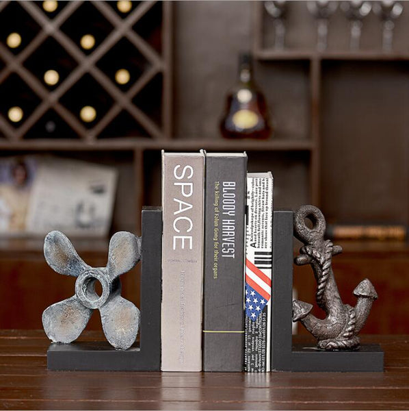 Anchor and Propeller bookend Set of 2