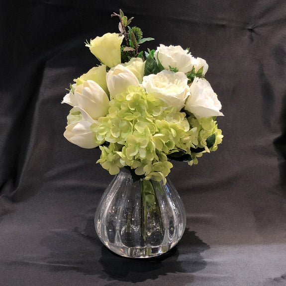 Artificial flowers with Cannonball Vase - Adore Home Living Perth WA