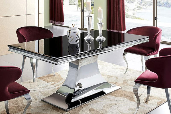 Avantika Glass Dining Table - adore-online.myshopify.com  -  Dining Table