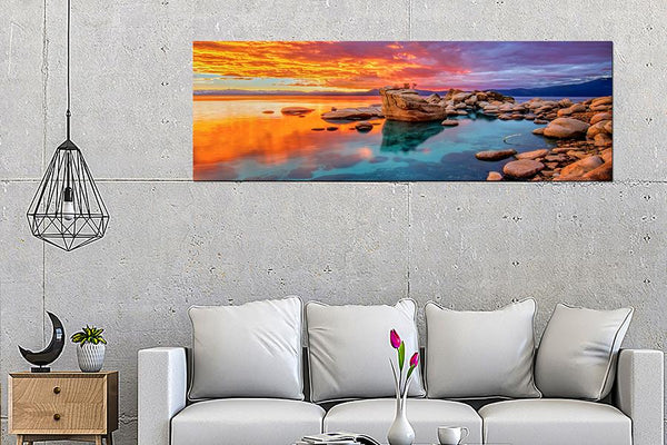 Acrylic Painting: Sunset On Rocks - Order Only Acrylic Printed Painting Adore Home Living Perth Furniture Store Homewares & Decors